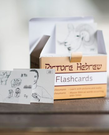 Picture Hebrew Flashcards Open Box with Illustrations